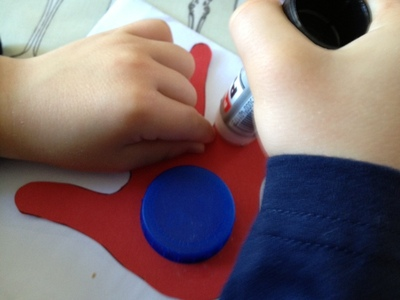 hand print, toddler, preschool, card making, footprint