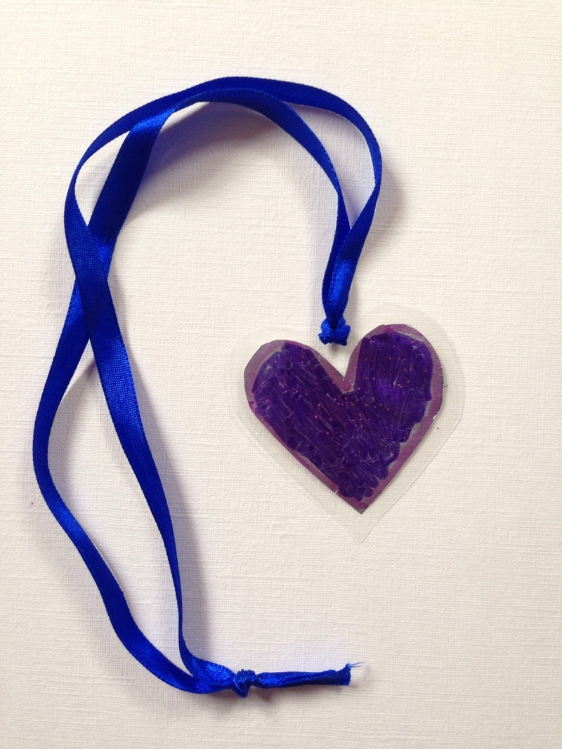 Heart necklace, kids craft necklace, craft ideas using ...