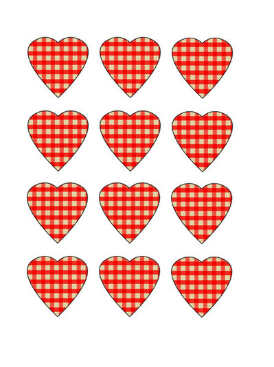 Printable Chequered Hearts  My Kid Craft