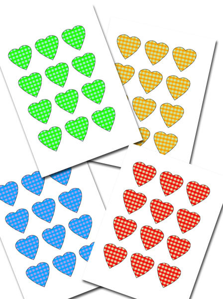 hearts, free printable, valentine