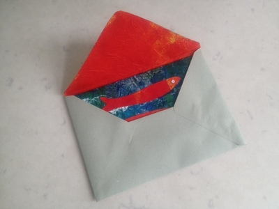 homemade envelope with lining paper