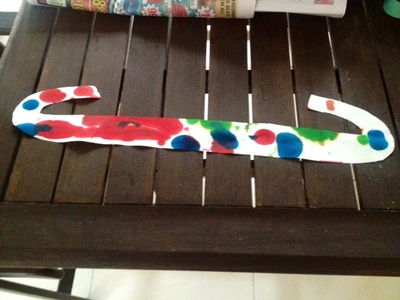 homemade planet wall decoration kids craft space rocket ink