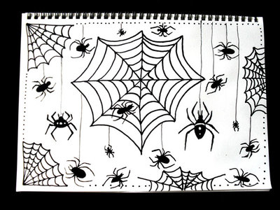 how to draw,spider,cobweb,drawing,halloween