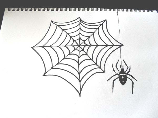 how to drawspidercobwebdrawinghalloween - Halloween Images To Draw