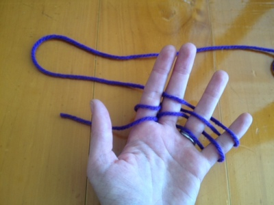 finger knitting kids easy knitting project idea