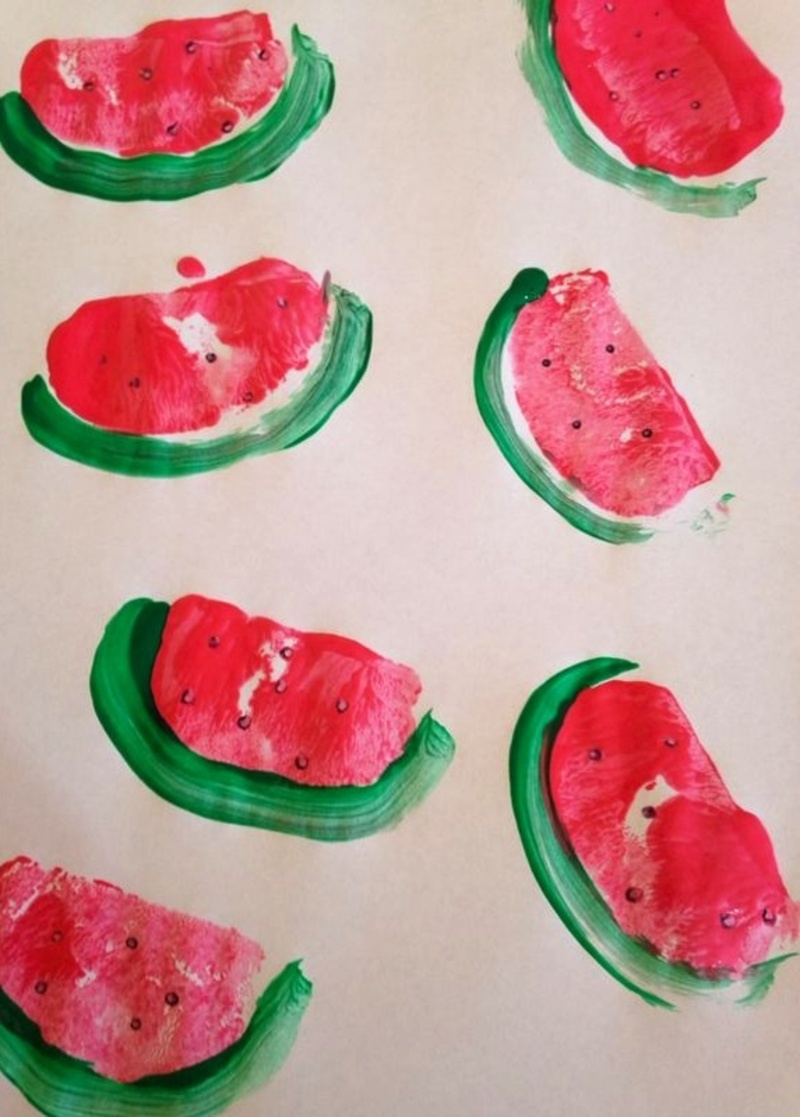 Potato Stamped Watermelon