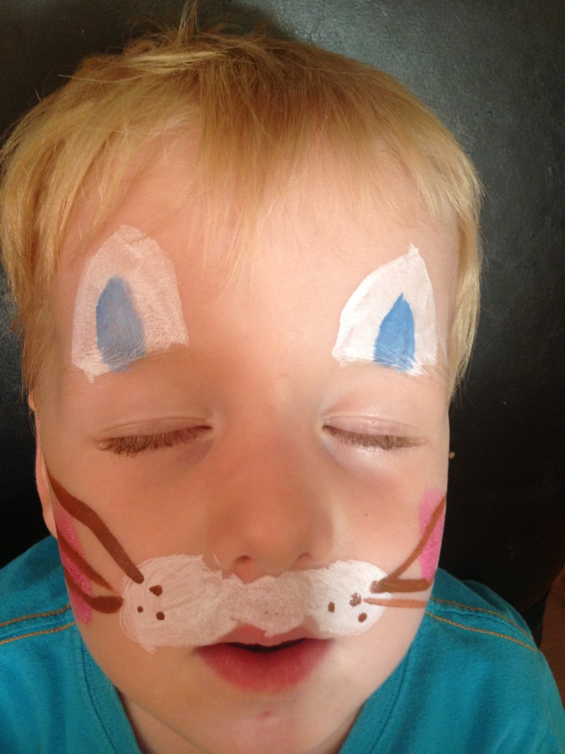 Quick and Easy Easter Bunny Face Paint My Kid Craft