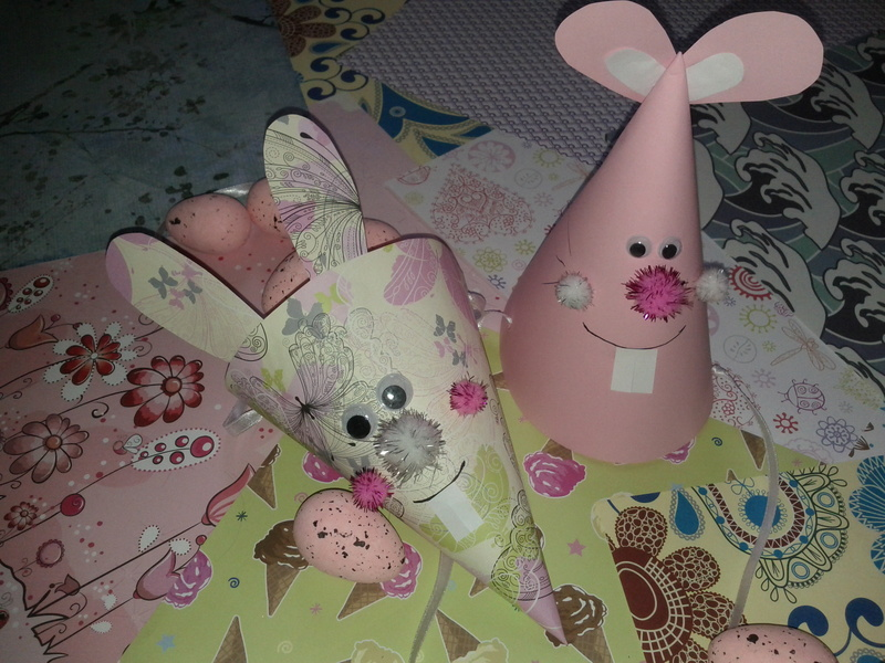 Easter Bunny Cone Basket and Hat