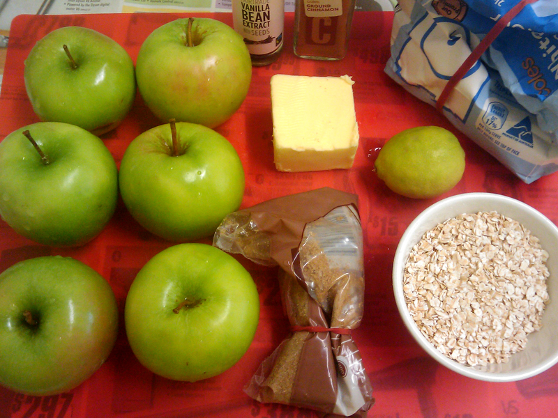 Ingrdients  - Quick and Delicious Apple Crumble