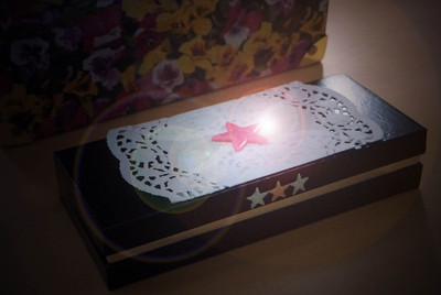 jewellery box, star box, keepsake, memories, upcycle