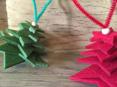 Jingle bell, red pipe cleaner, red felt star, Christmas tree decoration