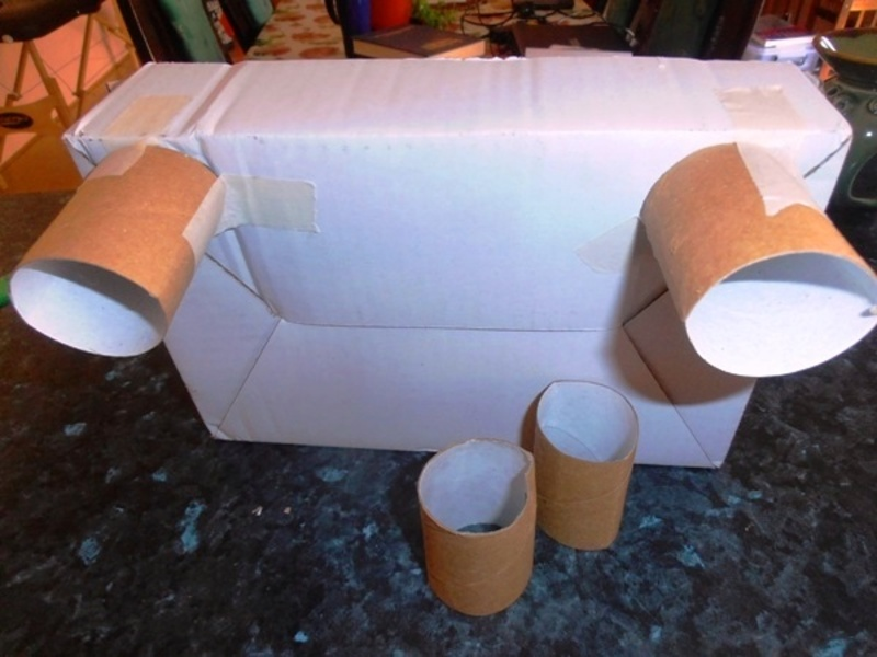 paper towel tube  - Doll's Bed