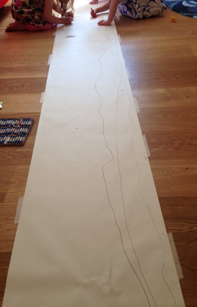 Large roll of paper to make giant collage