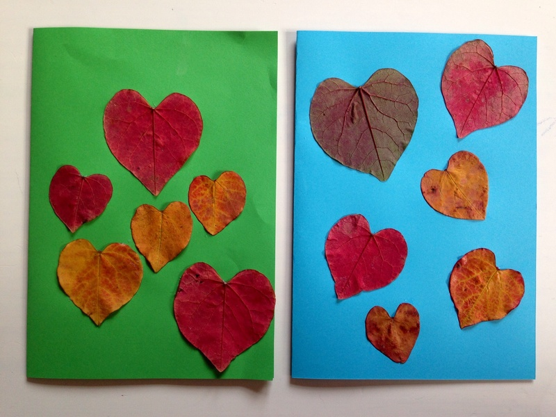 Craft Card Making Ideas Part - 44: Leaf Heart Card, Leaf Card, Heart Card, Leaf Craft, Autumn Craft Ideas,  Kids Leaves Craft - Leaf Heart Card - Image 4