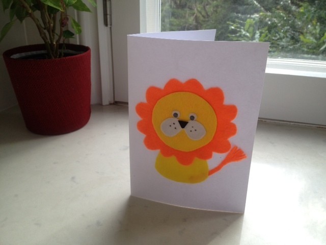 Lion birthday card my kid craft m4hsunfo