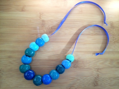 macadamia nut shell necklace homemade beads