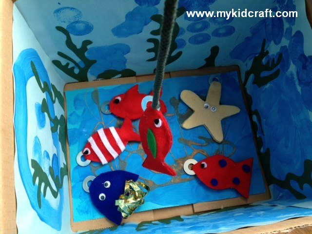 magnetic fishing toy, toy, fish, underwater, felt, starfish, game, jellyfish, magnet, make it yourself