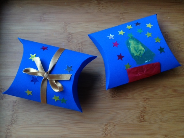 how to make gift box with cardboard 3