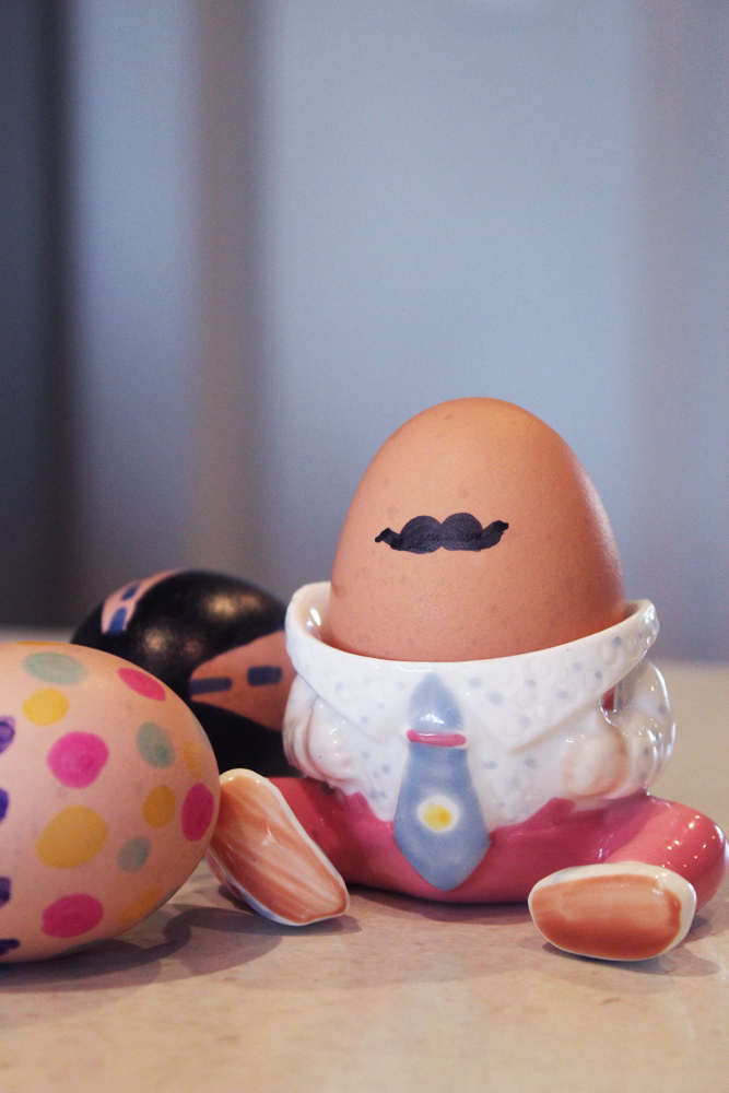 Marker Decorated Eggs Easy Decorated Eggs Moustache