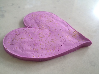 mothers day breakfast tray, heart coaster, plaster of paris, plaster heart, homemade coaster