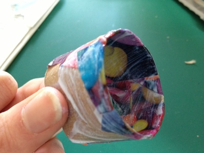 napkin ring, toilet roll, decoupage, craft, kid, children, present, mothers day