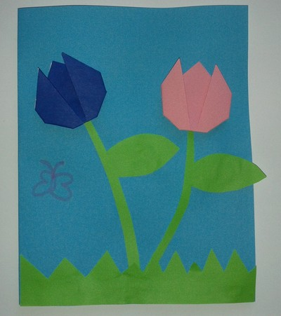Paper tulips my kid craft tulip flower easy card paper craft mightylinksfo