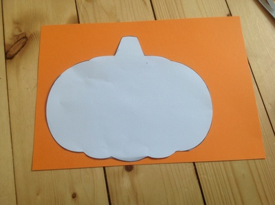 Orange card, pumpkin template