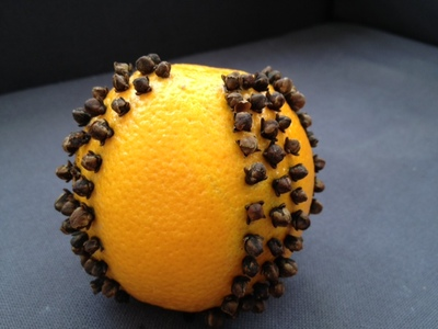 orange, pomander, cloves, Christmas, decoration