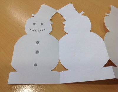 Snowman paper chain my kid craft for Snowman paper chain template