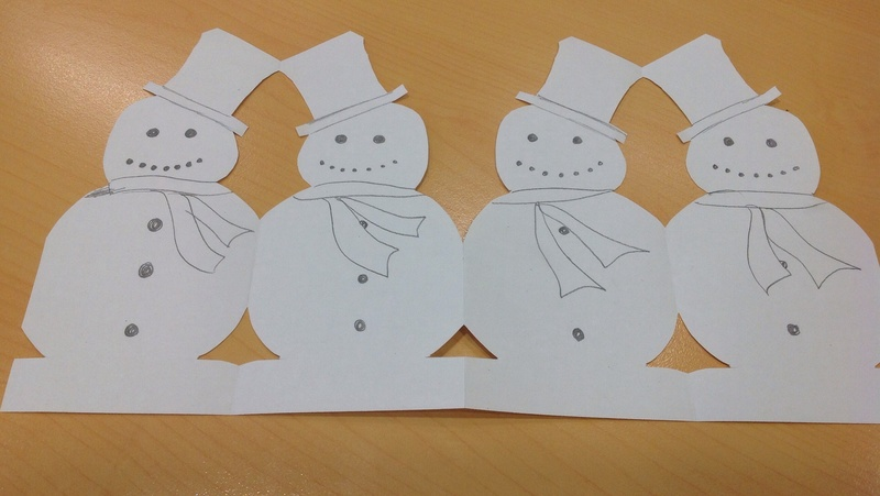 Paper chain snowmen snowman paper chain image 7 for How to make snowman with paper