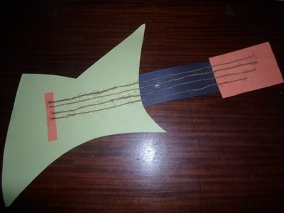 paper guitar kids craft activity