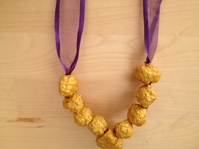 paper mache, beads, jewellery, necklace, kids, craft, modelling, present