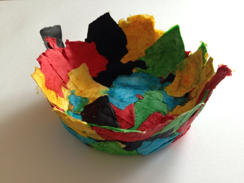 Paper m ch bowl easy paper mache bowl paper m ch for for Paper mache craft ideas