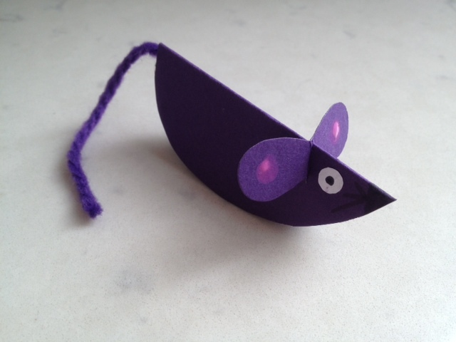 Paper Mouse Craft Tutorial Mice Ideas Kids With Wool Tail Card Easy How To Make A