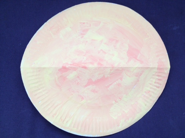 paper plate, chicken, chick, easter, art, kids, preschool, under 5s, paint, craft, chick