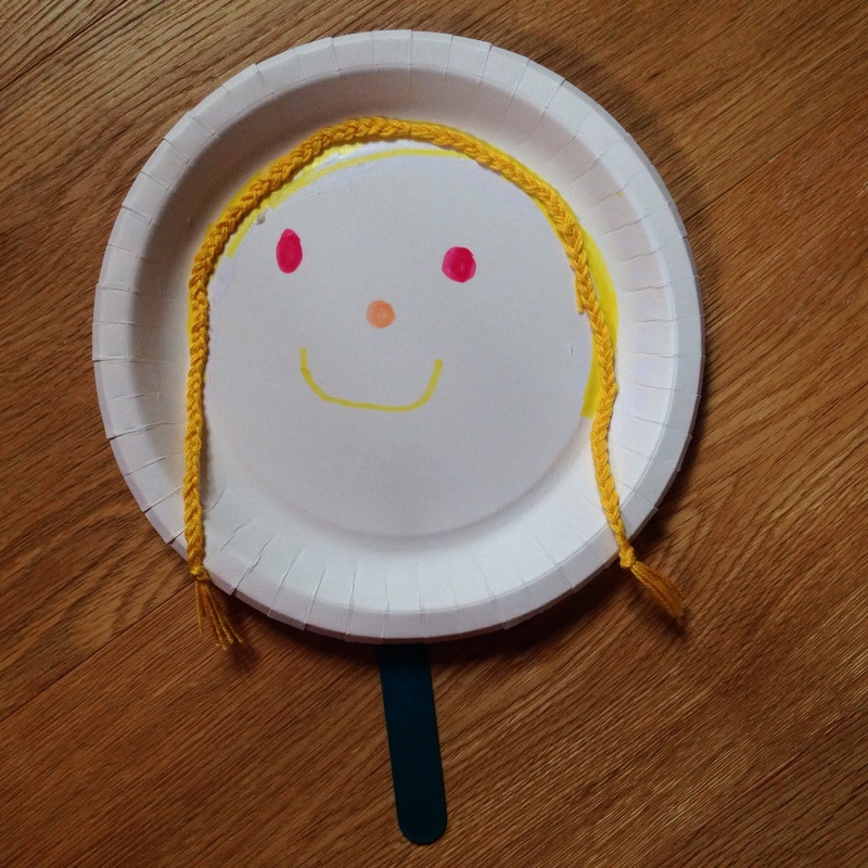 Paper plate puppet paper plate craft paper plate Popsicle stick puppet easy puppet - Paper Plate Puppets - Image 6 : paper plate puppet - pezcame.com