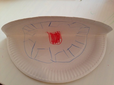 Paper plate puppets, paper plate snapper, easy craft for preschooler, easy craft for toddler, paper plate toddlers