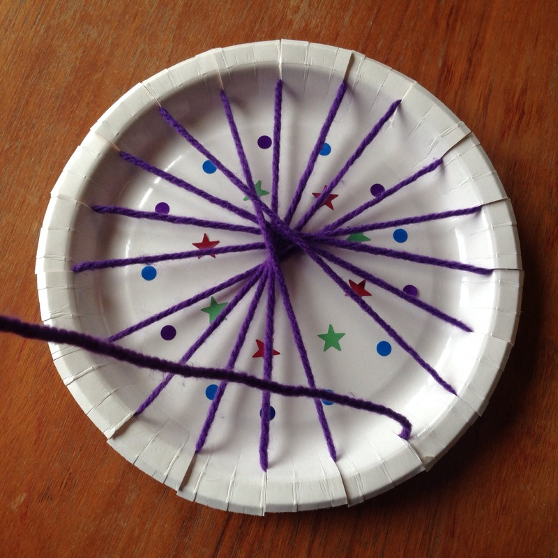 Paper plate weaving kids weaving easy weaving kids circle weaving paper plate & Paper Plate Circle Weaving - My Kid Craft