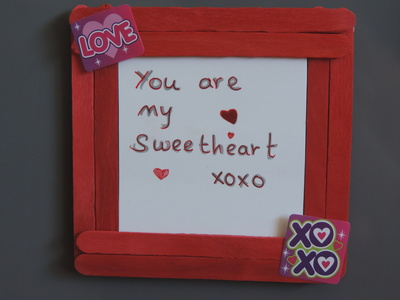 Personalised Popsicle Frame Magnet - My Kid Craft