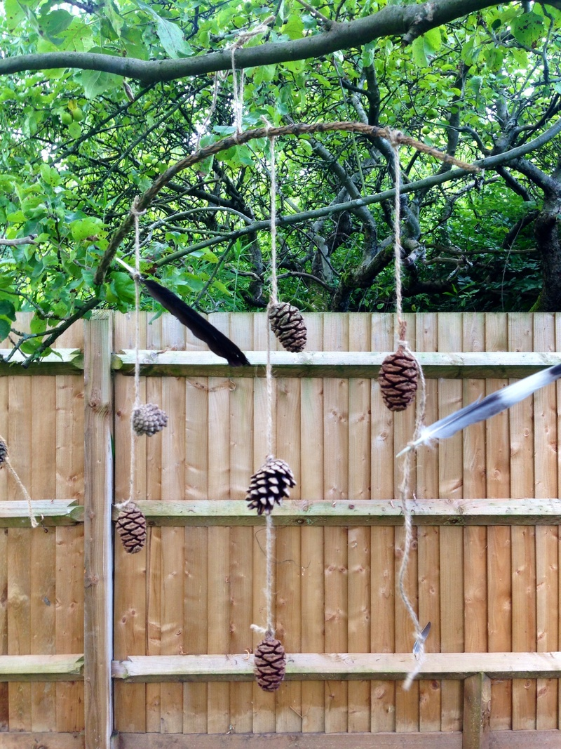 Pine Cone Craft Kids Mobile Outdoor Mobile Nature Mobile Natural