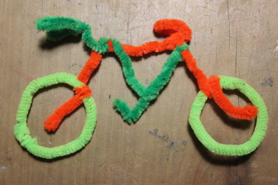 pipe cleaner craft, pipe cleaner bicycle, bicycle craft
