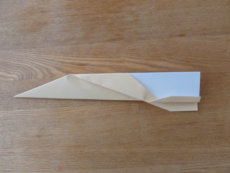 plane paper folded