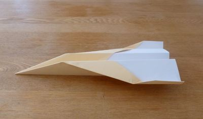 Plane paper folding craft transport