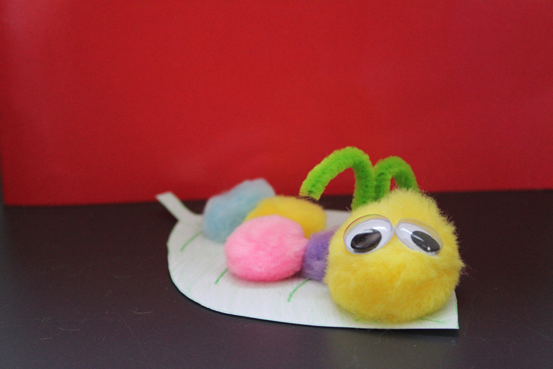 Pom Caterpillar Kids Crafts Easy Fun For Funny