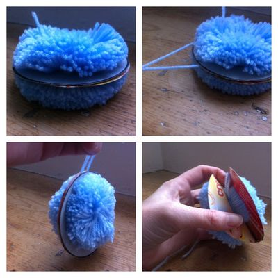 pom pom, wool, craft, children, kids, activity, how to, make it