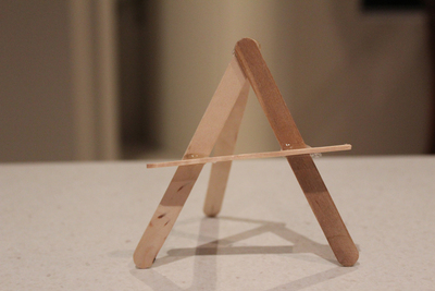 pop stick easel, dolls house furniture, pop stick crafts, easel, name place settings