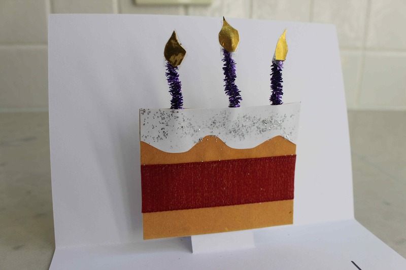 pop up birthday cake, pop up cake, birthday cake card, kids birthday card, easy pop up mechanism, easy pop up card at home, easy DIY pop up card