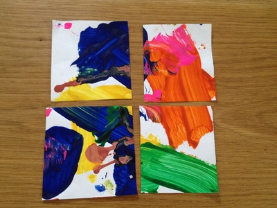 Pre school, art, thank you card