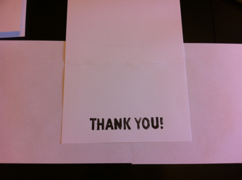 Finished card  - Apple Stamp Thank You Card