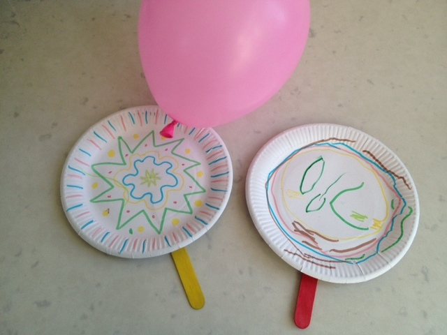 Paper plate tennis my kid craft for Indoor crafts for kids